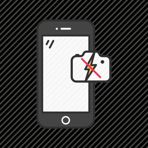 capture, no flash, phone, phone camera icon