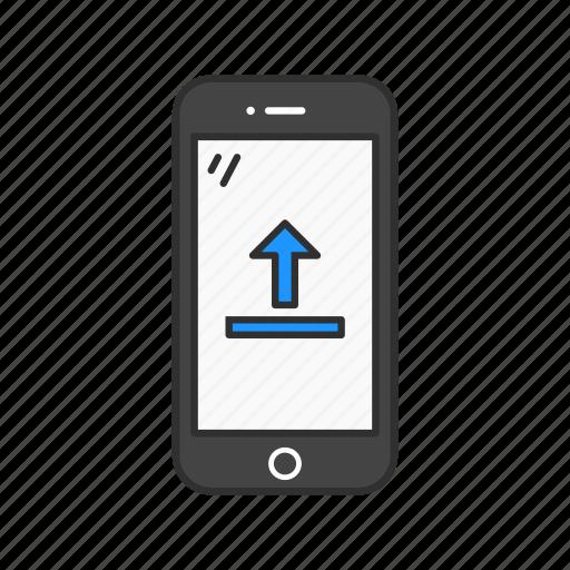 Phone, loading, uploading, upload icon
