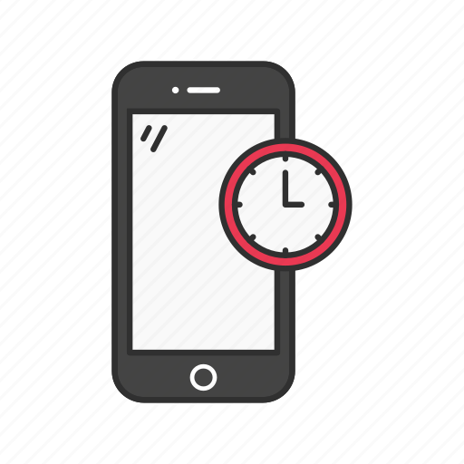 clock, mobile clock, phone time, time icon