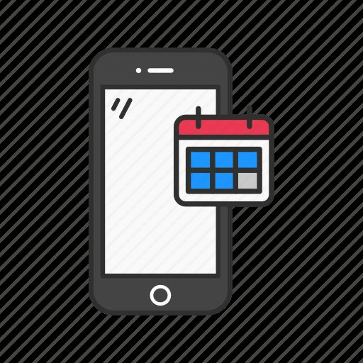 Calendar, date, phone, phone calendar icon - Download on Iconfinder