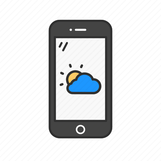 phone, smartphone, weather, weather app icon