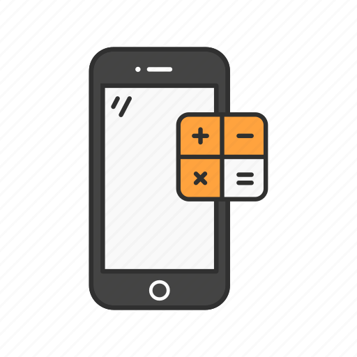calculator, mobile calculator, phone, smartphone icon