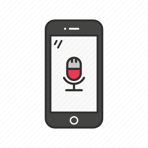 microphone, mobile microphone, record, smartphone icon