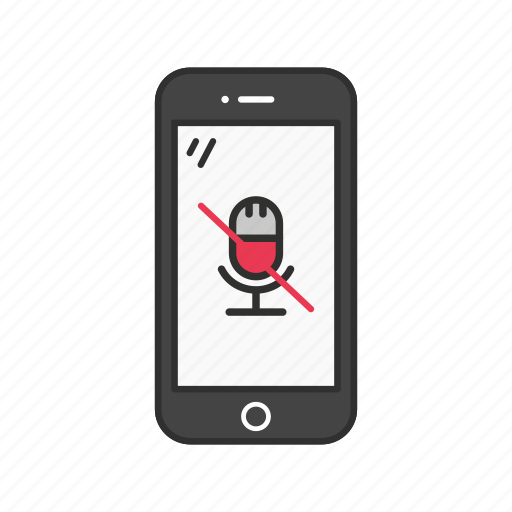 microphone, mobile microphone, silent, silent microphone icon