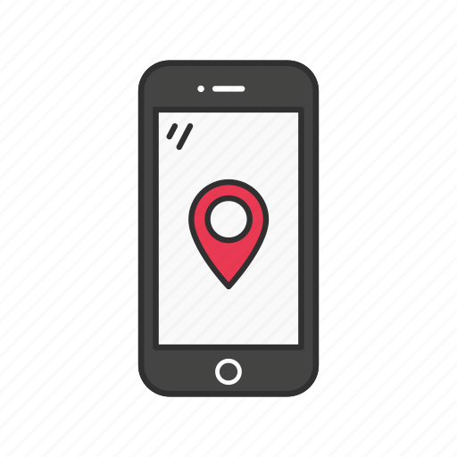 gps, map, mobile map, place icon