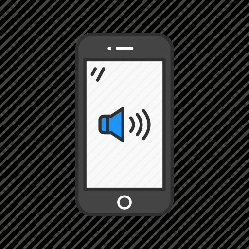 high volume, phone, smartphone, volume icon