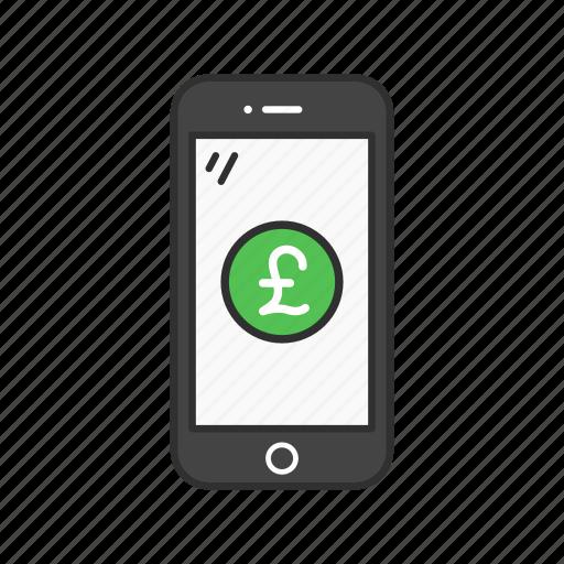 mobile money, mobile pound, money, pound icon