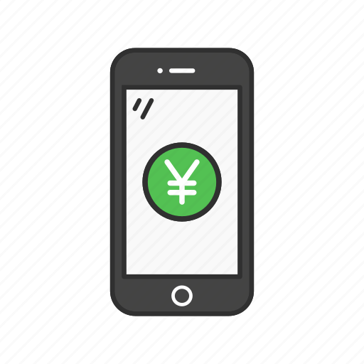 mobile money, mobile yen, money, yen icon