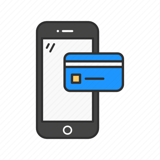 atm card, mobile payment, online shoppping, smartphone icon