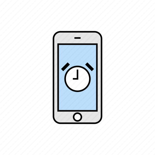 alarm clock, smartphone, timer icon