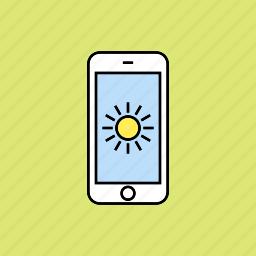 brightness, sun, sunlight, weather icon