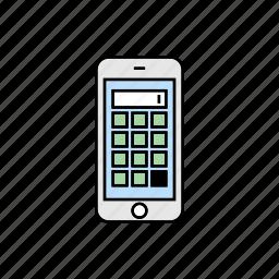 calculator, math, smartphone icon