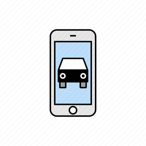 car, drive, smartphone, vehicule icon