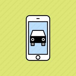 automobile, car, vehicule icon