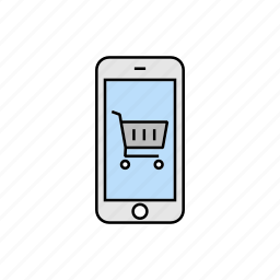 cart, purchase, shopping, smartphone icon