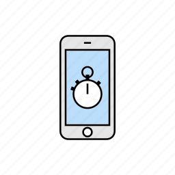 chronometer, smartphone, stop watch, timer icon