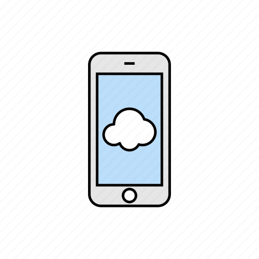 cloud, cordless, online, smartphone icon