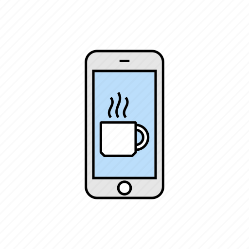 break, coffee, drink, smartphone, tea icon