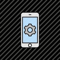cogwheel, parameters, settings, smartphone icon