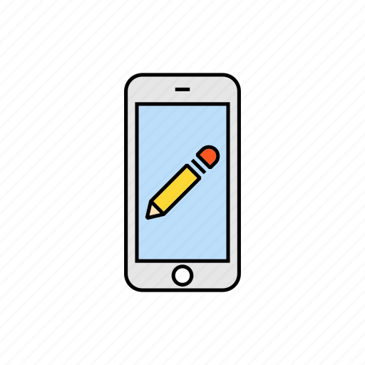 edit, modifie, pen, pencil, smartphone icon