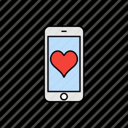 evaluate, love, rate, smartphone icon