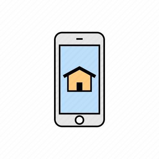 home, house, menu, smartphone icon