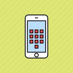 digits, keyboard icon
