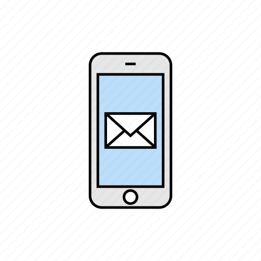 inbox, incoming, mail, message, smartphone icon