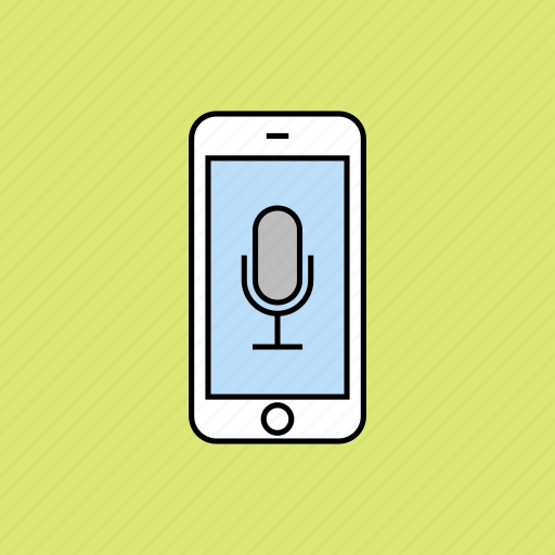 microphone, record, voice recognition icon