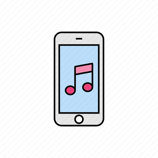 album, media, music, smartphone, song icon