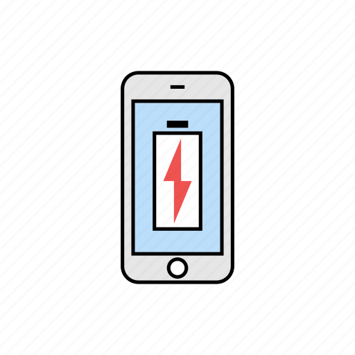 battery, charging, power, smartphone icon