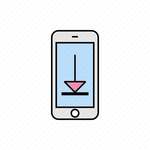 download, getting, smartphone icon