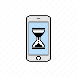 loading, smartphone, waiting icon