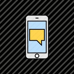 communication, conversation, message, notification, smartphone, talk icon