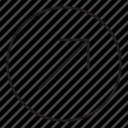 arrow, corner, tilted icon