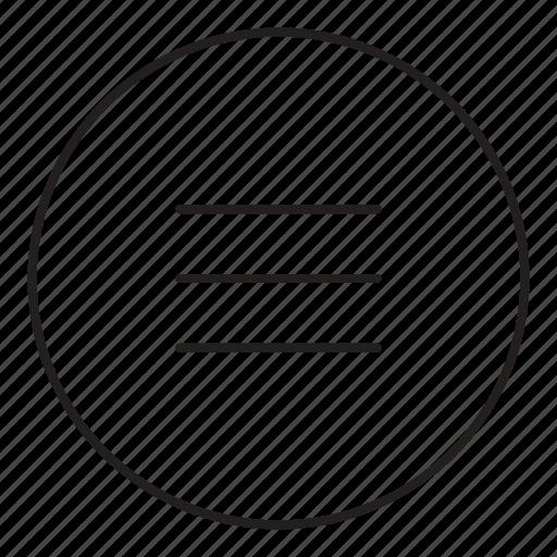 list, menu, tabs icon