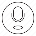 microphone, record, register, sound, tape, voice icon