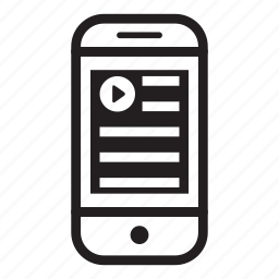 article, device, mobile, phone, smartphone icon