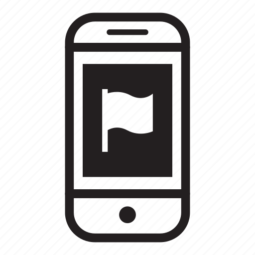 device, flag, mobile, phone, smartphone icon
