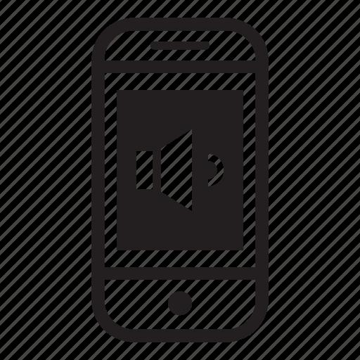 device, low, mobile, phone, smartphone, volume icon