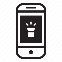 device, light, mobile, phone, smartphone, torch icon