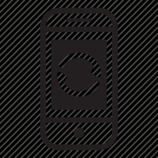 device, mobile, phone, refresh, smartphone icon