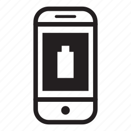 battery, device, full, mobile, phone, smartphone icon