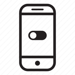 device, mobile, phone, smartphone, turn off icon