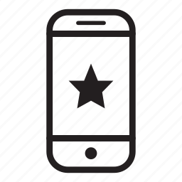 device, favourite, mobile, phone, smartphone, star icon