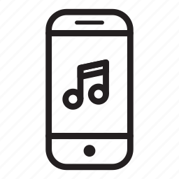device, mobile, music, phone, smartphone, song icon