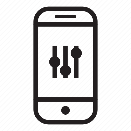 adjustment, device, mobile, phone, settings, smartphone icon