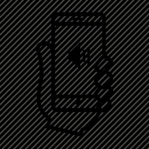 mobile, music, smartphone, sound, usability, user, volume icon
