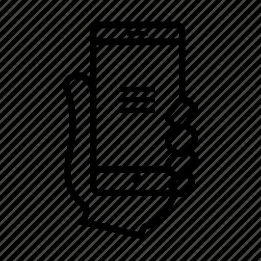 burger, menu, mobile, smartphone, usability, user icon