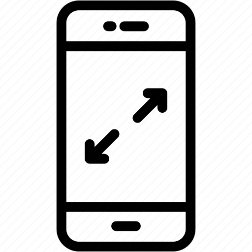 device, full, mobile, phone, screen, smartphone icon
